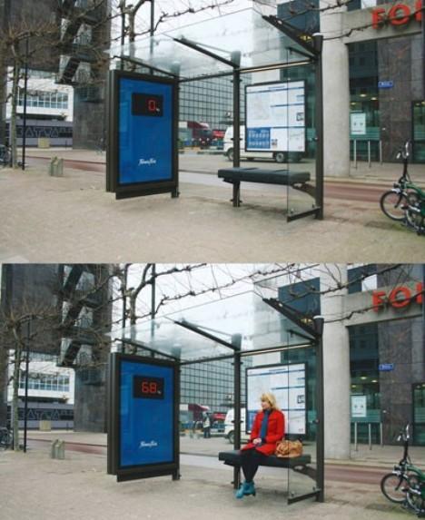 Tu peso en la parada de bus