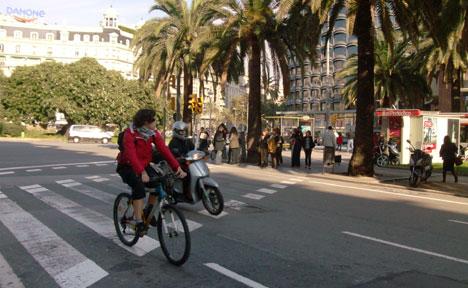 Bicicleta para mejora la calidad del aire