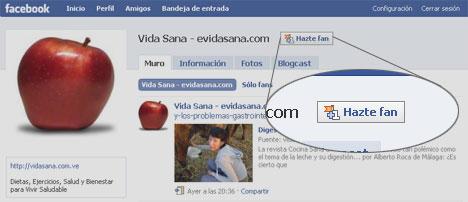 Hazte Fan de Vida Sana en Facebook