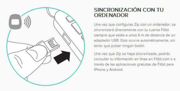 Sincronización USB y Bluetooth