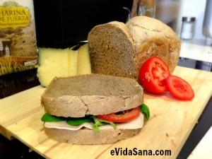 pan casero de trigo y centeno