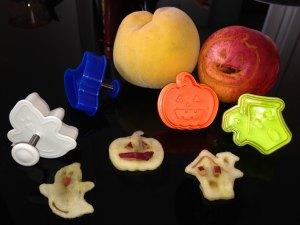 figuras de frutas de halloween