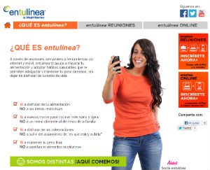 Web entulínea de Weight Watchers