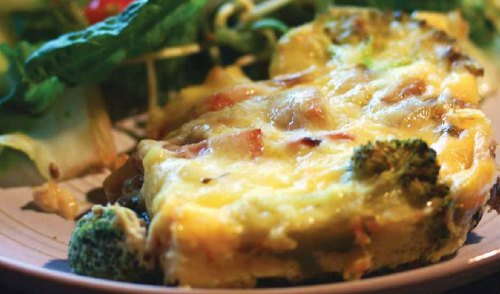 fritatta de brocoli y pimiento rojo