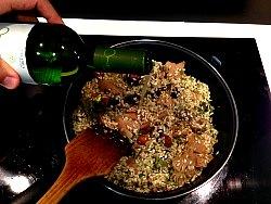 risotto y vino